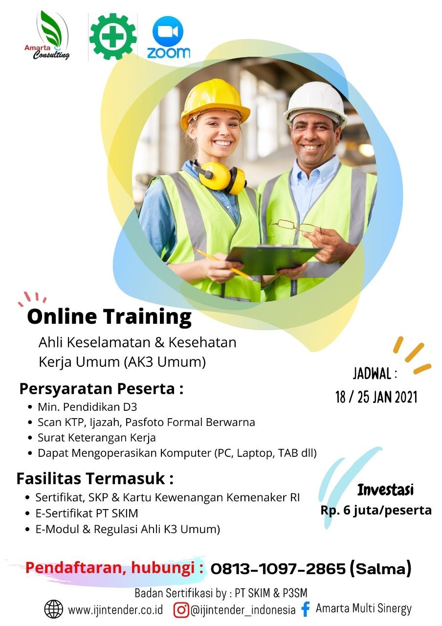 Training Ahli Keselamatan & Kesehatan Kerja Umum (AK3 Umum)